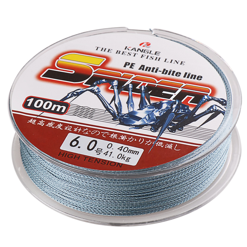 100m Super Power 4 Strands PE Braided Fishing Line 12-80LB Strong Multifilament Fishing Line Spider Cord Carp Linha Para Pesca