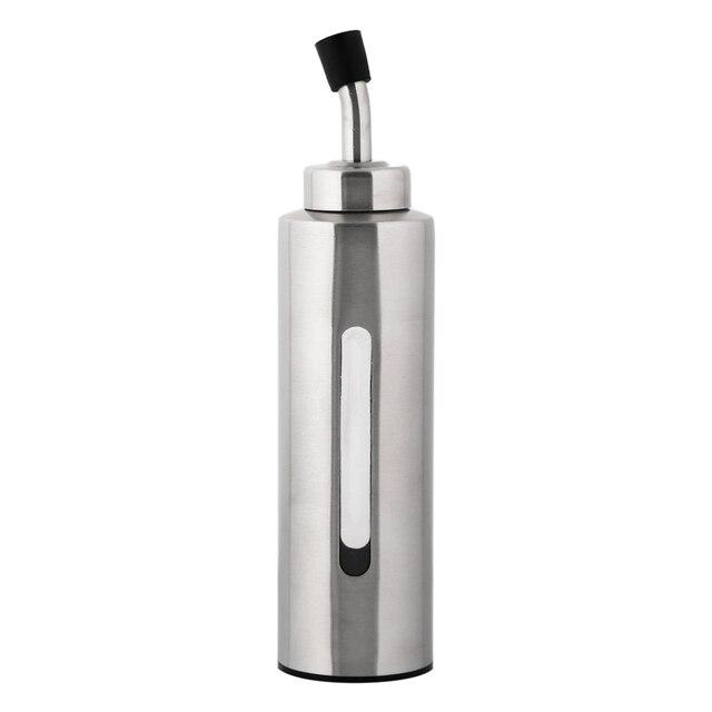 € 7.19 |Pratique Moderne De Mode 240 ml Rondes En Acier Inoxydable Burette  D\'huile Liquide Condiment Conteneur Bouteille Cuisine Utiles Outils dans ...