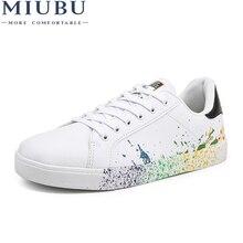MIUBU Boys Brand White Shoes Mix Colors Ink Painting Mens Colorful mans Plus Large Size US 11 12 Euro 45 46