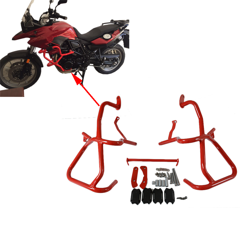 New Motorcycle Red Front Engine Radiator Highway Guard Crash Bars Frame Protection For BMW F800GS F700GS 13-17 16 15 14 chrome motorcycle front engine guard highway crash bar protection for bmw r1200rt 2014 2016 2015