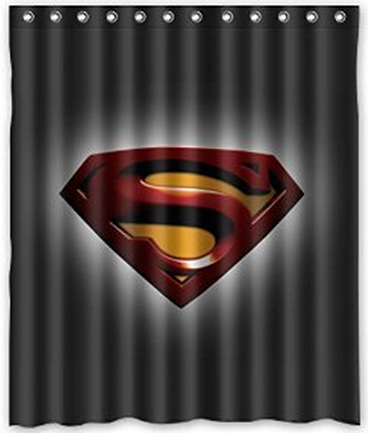 Generic Superman Logo Waterproof Bathroom Polyester Fabric Custom