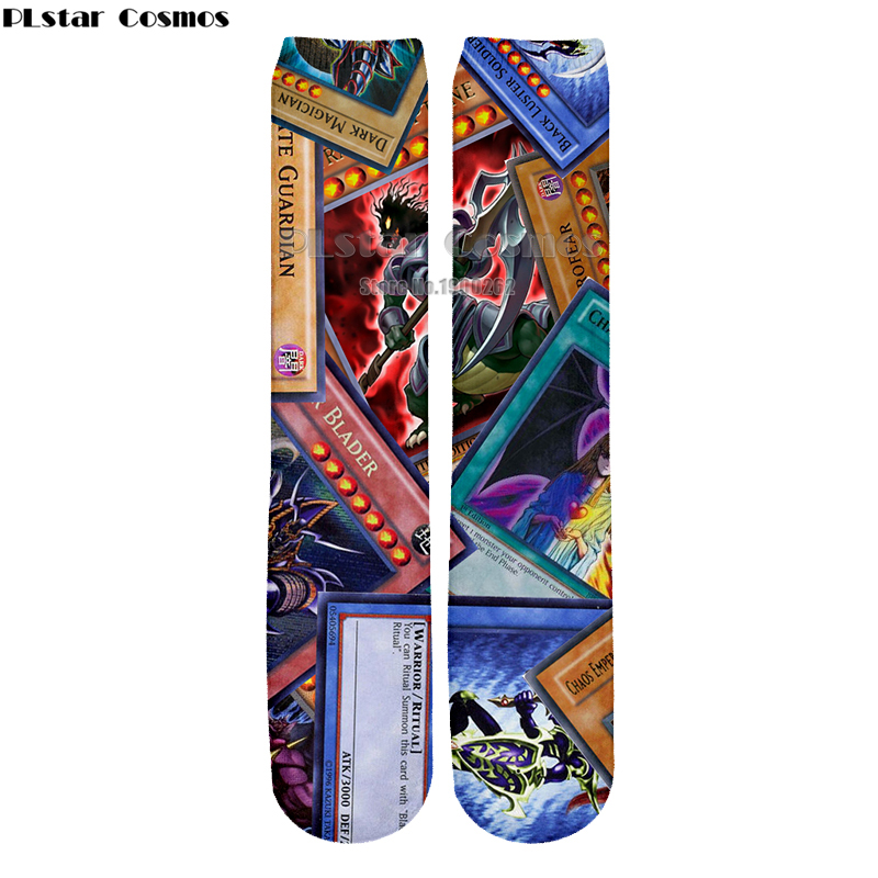 Underwear & Sleepwears Plstar Cosmos Anime Yu Gi Oh Monster Cards Harajuku Style Men & Wome Harajuku Style 3d Print Men Women Socks New Style Fashion With Traditional Methods
