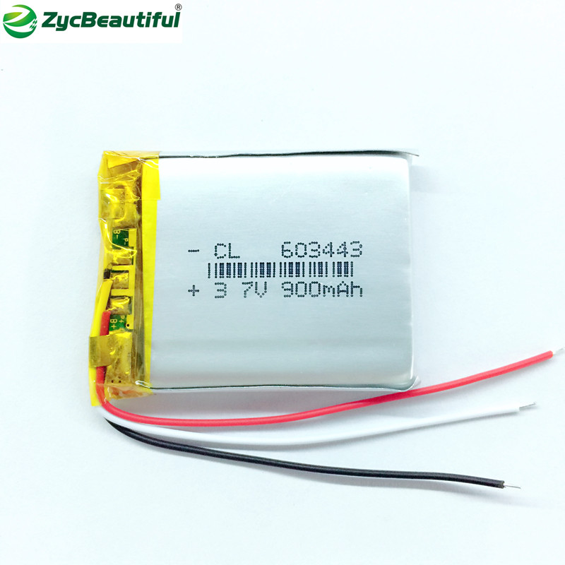 ZycBeautiful 603443 3.7V polymer lithium battery used to lie prone dog 260 vehicle recorder papago730/E road air 980H