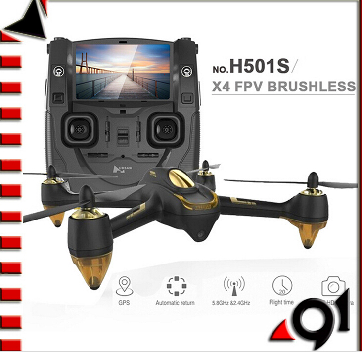 F17999 оригинальный Hubsan H501S X4 5,8G FPV RC Дрон с 1080 P HD Квадрокоптер с камерой с gps следить за мной CF режим автоматического возврата