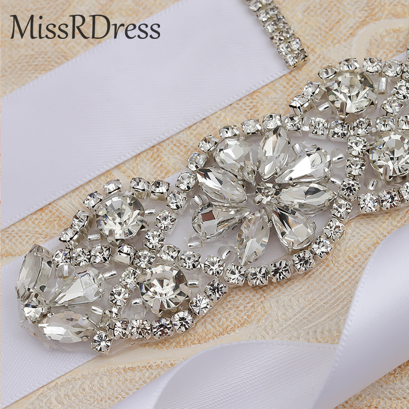 MissRDress Wedding Belt Rhinestones Belt Crystal Handmade Pearls Belt Bridal Dress Sash Evening Dress Wedding Pearl belt JK834