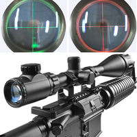 6 24x50 Illuminated Mil Dot Reticle Tactical green and red Optics With A Dust Cover For Riflescopes Qz0153