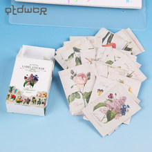 48 unids/lote DIY Kawaii Matchbox adhesivo creativo Vintage hermosa flor álbum diario decoración Scrapbooking(China)