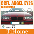 Free Shipping E36 CCFL ANGEL EYES Kit NON PROJECTOR HALO RINGS CCFL ANGELEYES LIGHTS SPECIAL FIT FOR BMW E36