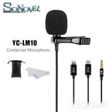 YC LM10 Telefoon Audio Video opname Lavalier Condensator Microfoon voor iPhone 8 7 6 5 4 4S 4 ipad Huawei Sumsang xiaomi Type C