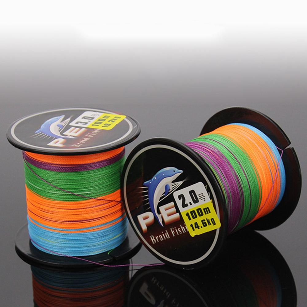 100 Meter sea fishing line 5 Color 8 Strands Braided PE Wire Tackle Accessories