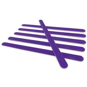 Image 3 - New Double Head Wooden Nail Files 200 pcs/lot Purple Wood Sandpaper Polisher Machine Lixas De Unha Vijlen Nails Files Tools Kit