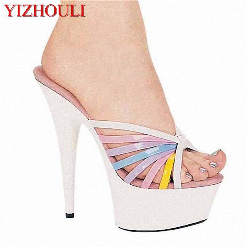 Round head stilettos, fashionable feet in sexy shoes, 15 cm heel high women's sandals female head teachers administrative challenges in schools in kenya