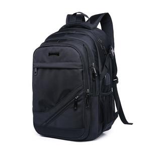Image 2 - 소년을위한 학교 가방 15.6 17 인치 노트북 가방 키즈 백 팩 schoolbag 소년 cartable ecole 어린이 배낭 블랙 나일론 배낭