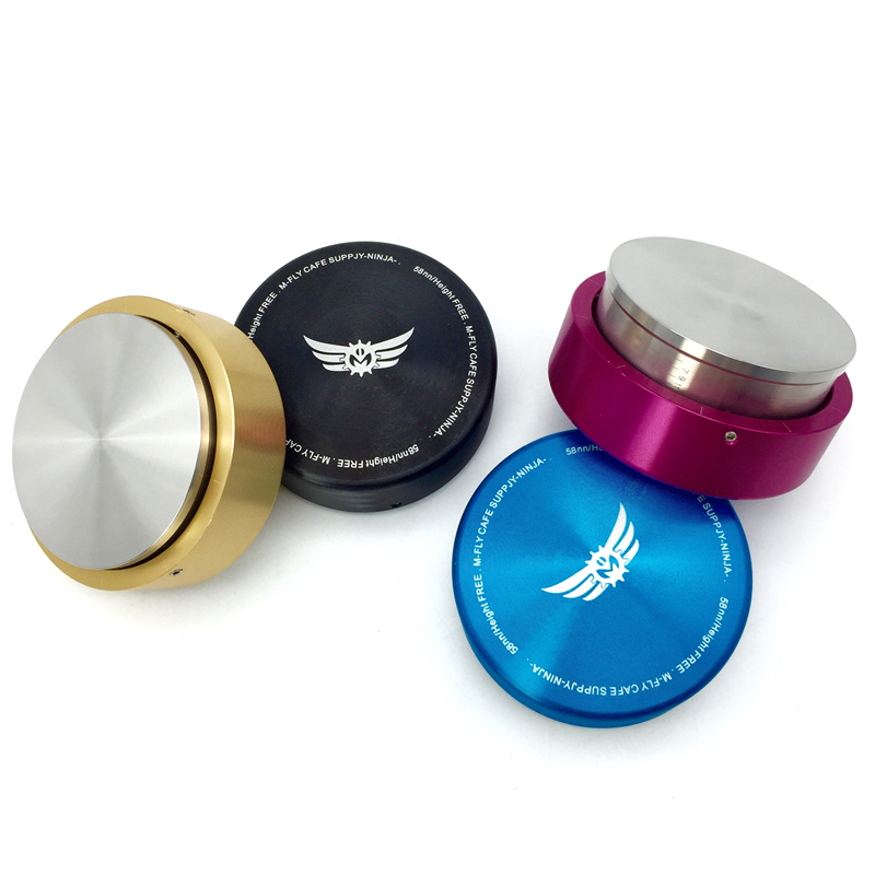 Free shipping new smart stainless steel coffee tamper four colors professional Manually coffee machine grinder tool 58mm 57.5mm