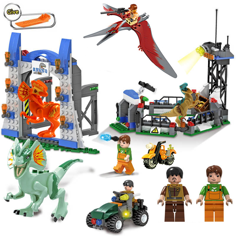 New Legoing Jurassic World Dinosaur Base Building Block Set Tyrannosaurus Rex Away Brick Toys For Kids Children Birthday Gifts 37 cm tyrannosaurus rex with platform dinosaur mouth can open and close classic toys for boys animal model without retail box