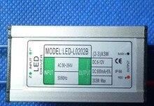 цены 5 pcs (2-3) x 3w 6W 9W LED waterproof driver LED Waterproof Constant Current 0.6mA Input 90-264 V Output 6-12 V for lamp bead