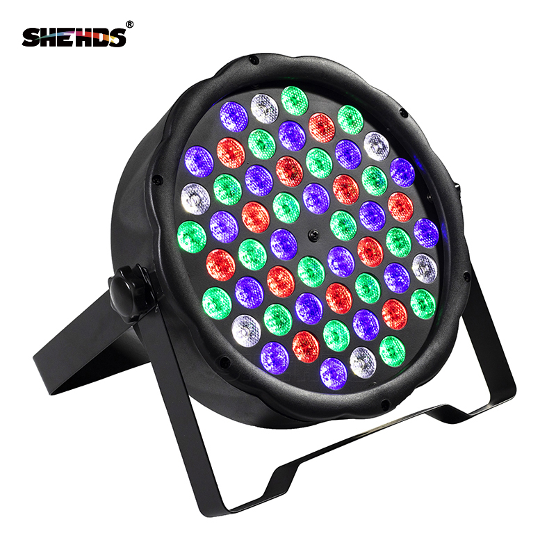 Fast Shipping LED 54x3W RGBW LED Flat Par RGBW Color Mixing DJ Wash Light Stage Uplighting