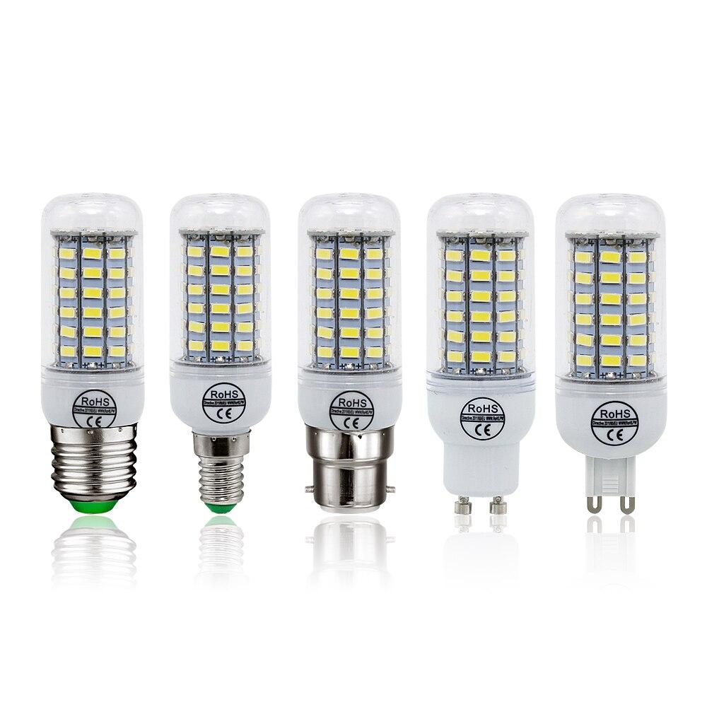 1pcs LED Lamp E27 E14 B22 G9 GU10 Light AC 220V SMD 5730 Chandelier Spotlight 24 36 48 56 69 72LEDs Corn Bulb Home Decoration