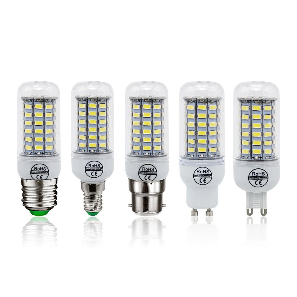 1 Stücke Led-lampe E27 E14 B22 G9 Gu10 Licht Ac 220 V Smd 5730 Kronleuchter Scheinwerfer 24 36 48 56 69 72 Leds Maisbirne Hause Dekoration