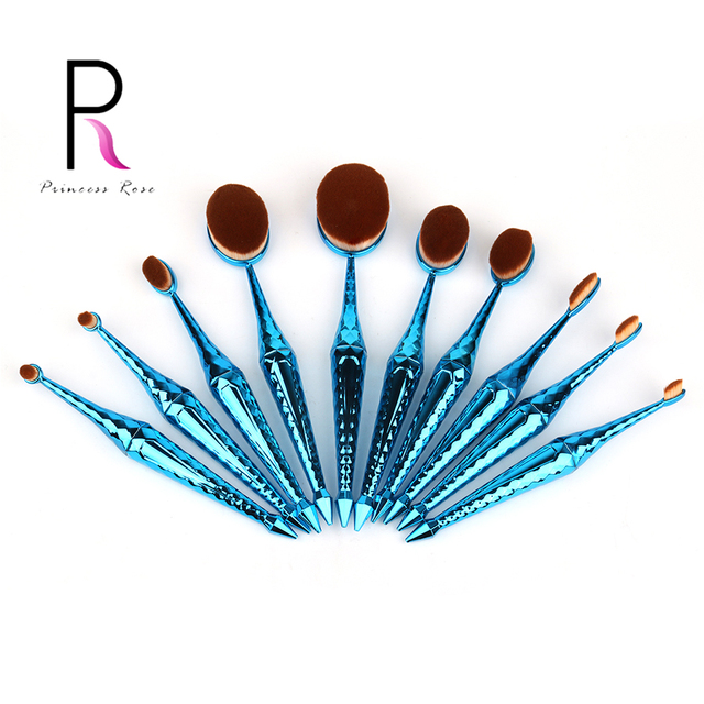 Princess Rose Brand New Arrow Handle Oval Makeup Brushes Make Up Brush Set Pincel Maquiagem Kit Pinceis Pinceaux Maquillage