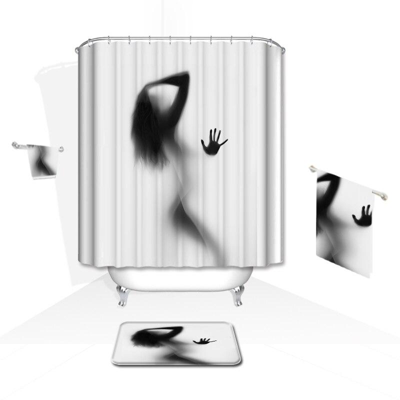 Rideau de douche créatif de haute qualité imperméable à l'eau de - Marchandises pour la maison - Photo 3
