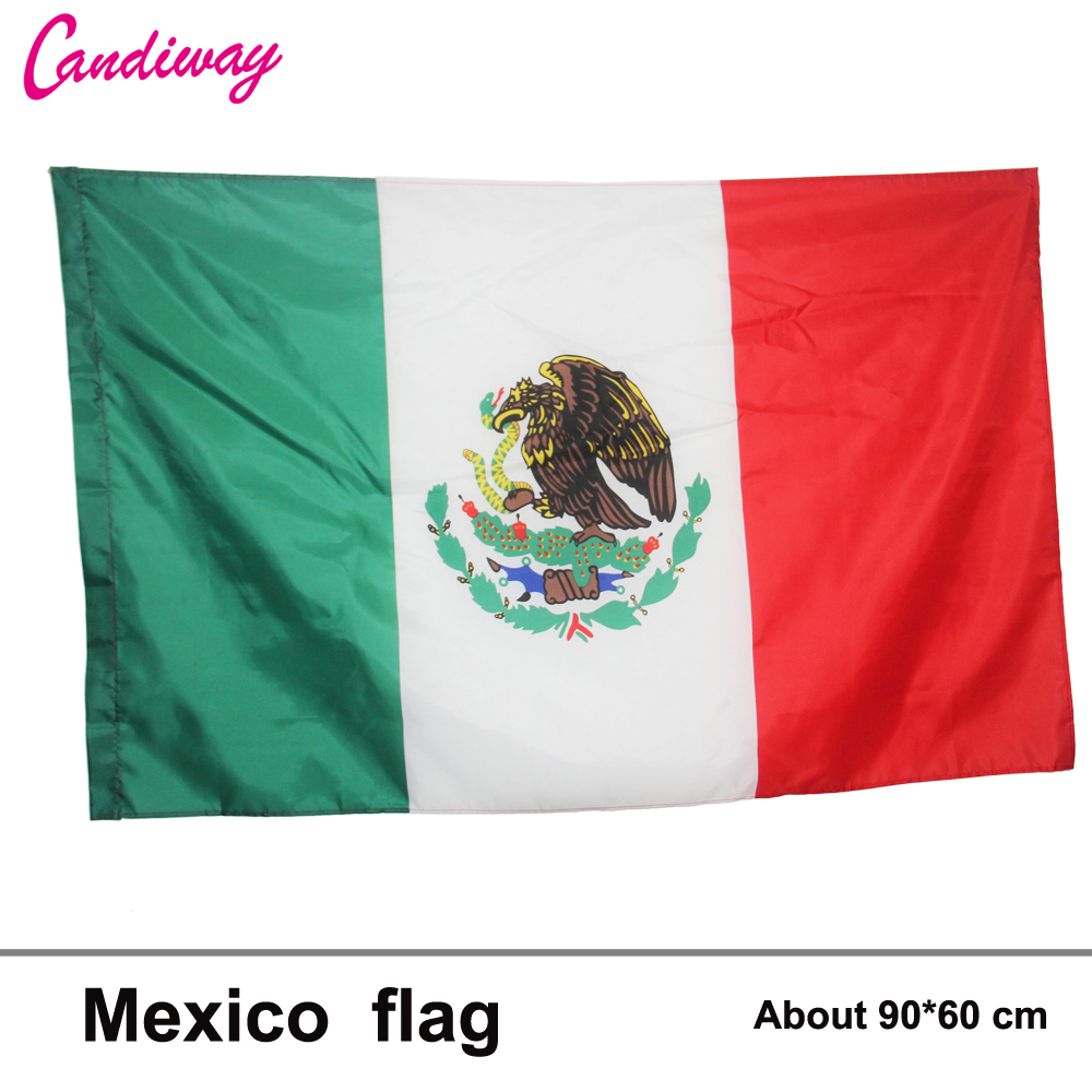 10pcs lot national flag country flag stick flags flag of the united - 3ft X 2ft Hanging Mexico Flag Polyester Standard National Flag Banner Outdoor Indoor Mexico Flag 64x96cm