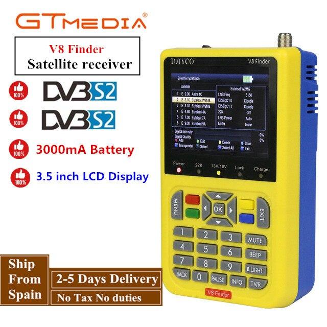 GTMEDIA/Freesat V8 Finder HD DVB-S2 Digital Satellite Finder High Definition Sat Finder DVB S2 Satellite Meter Satfinder 1080P