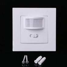 все цены на AC 110V-240V Infrared PIR Motion Sensor Recessed Wall Module Light Switch онлайн