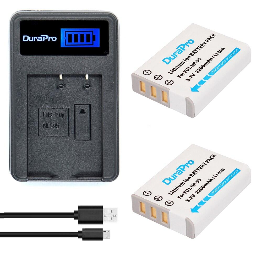 2pc NP-95 NP 95 NP95 Li-ion Battery + LCD Li-ion Charger For FUJIFILM NP-95 F30 F31 F30fd F31fd 3D W1 X100T X100S X100 X-S1 3DW1