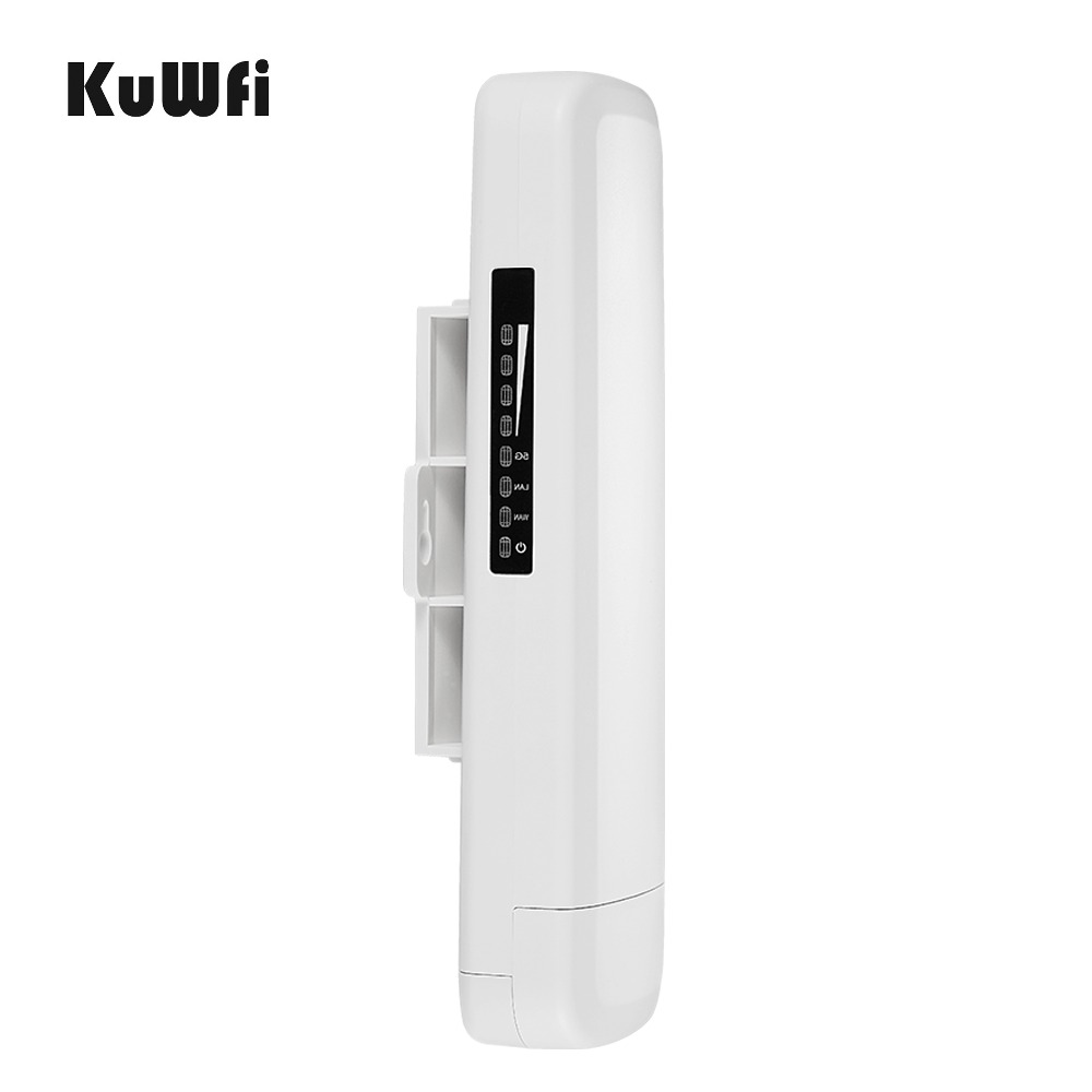 Image 3 - Kuwfi 3Km 2.4G 300Mbps Wifi CPE Router Wifi Repeater Wifi Extender Wireless Bridge Access Point For Wireless Camera LED Display-in Wireless Routers from Computer & Office