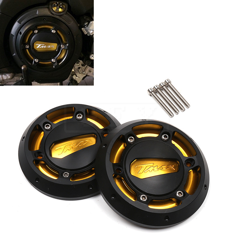 Motorcycle CNC Engine Stator Protective Guard Cover Set For Yamaha Tmax530 2012 - 2015 T-max Tmax 530 Moto Protector Accessory motorcycle cnc 6 hole beveled engine side guard derby cover