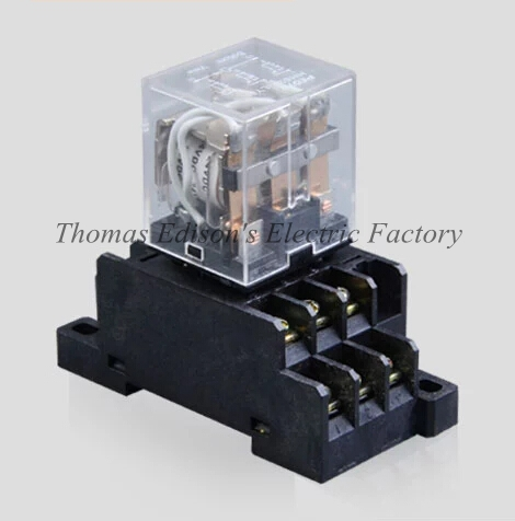 DMWD AC 220V HH63P LY3N Mini Relay power relay general purpose relay with Socket Base 11 Pin free shipping 14 pin general purpose relay socket base pyf14a din rail mount