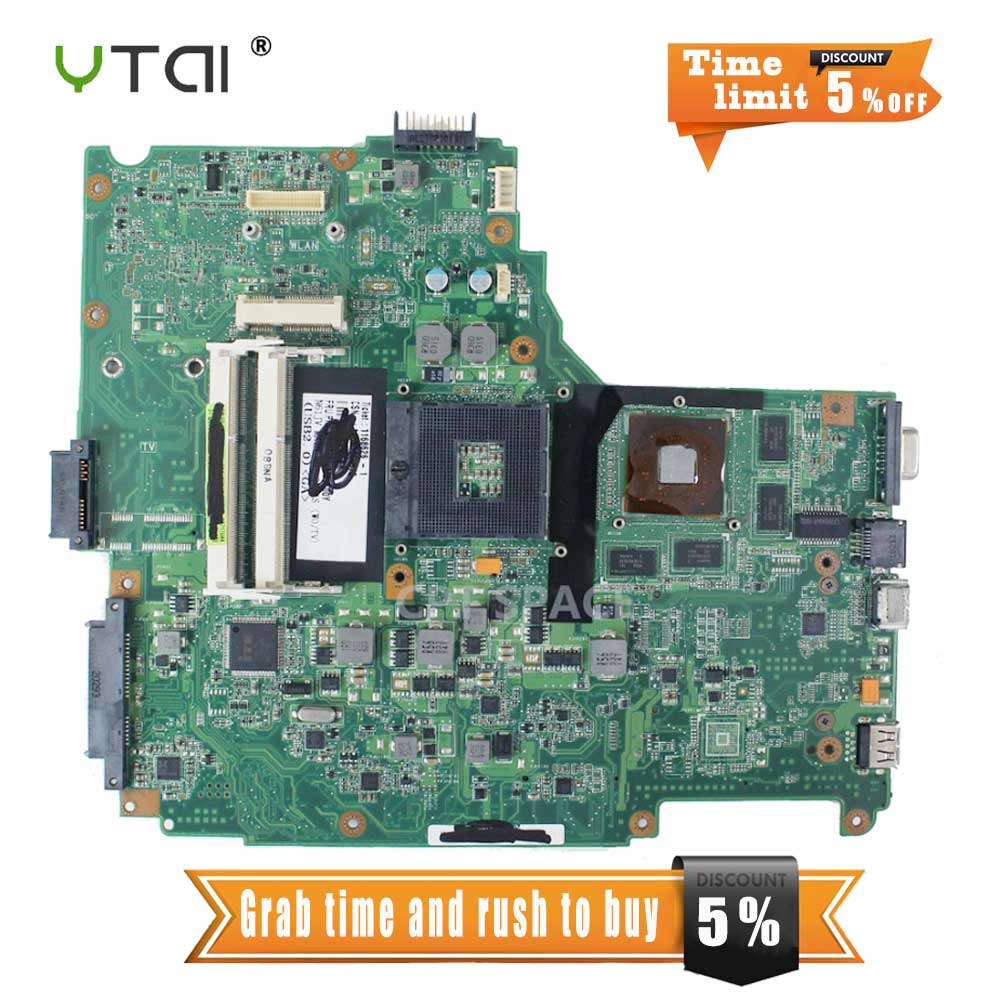 YTAI N61JV REV2.0 HM55 DDR3 Mianboard For ASUS N61JV REV2.0 Laptop Motherboard HM55 DDR3 mainboard fully tested free shipping hot selling k72ju k72jt laptop motherboard for asus x72j mainboard hm55 hd6370m rev2 0 1gb ddr3 216 0774211 fully tested 100