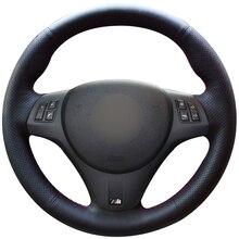 цены на Hand sewing custom Black Natural Leather Car Steering Wheel Cover for BMW M3 2009-2013 E92  в интернет-магазинах