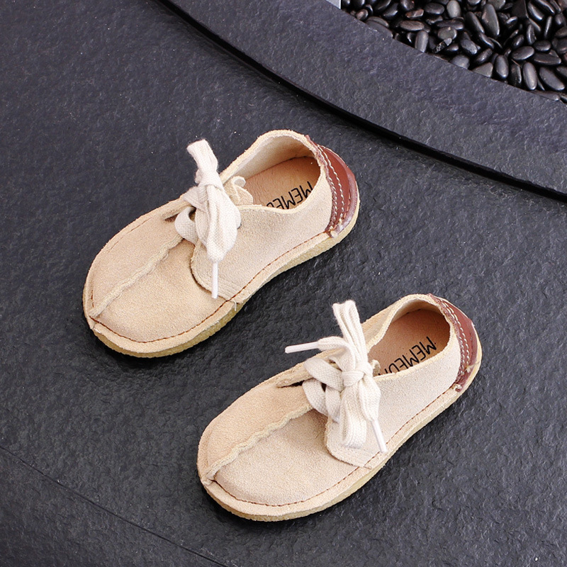 Toddler Moccasins Genuine Leather Kids Casual Shoes Flats Lace Up Top Quality All Match Children Boys Girls Shoes Size 21-30