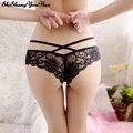 Vendaje sexy g strings tangas erotic underwear calzoncillos de encaje bragas de las mujeres transparentes g-strings tangas lencería femme culotte