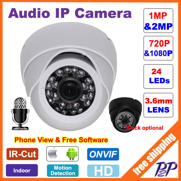 CCTV Mini HD 720P 1080P IP Camera Audio Input With ...