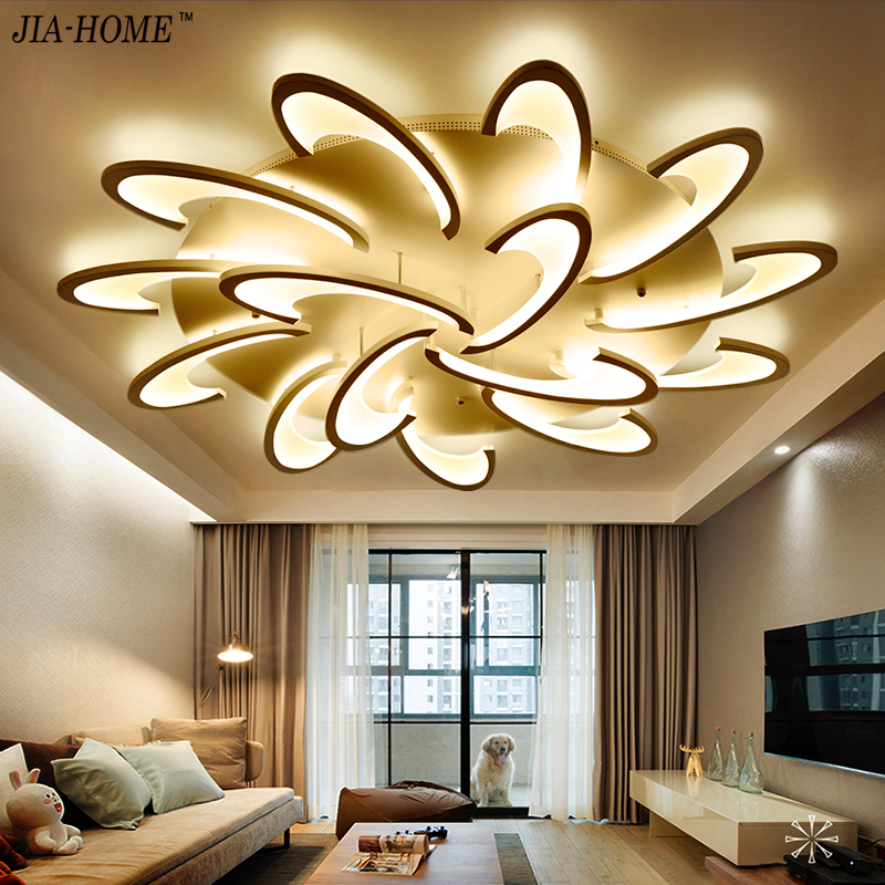 Remote control led ceiling light with Ultra-thin Acrylic lamp ceiling for living room bed room flush mount lamparas de techo noosion modern led ceiling lamp for bedroom room black and white color with crystal plafon techo iluminacion lustre de plafond