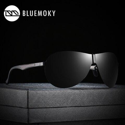 BLUEMOKY Male Rimless Siamese Aviation Sunglasses for Men Polarized UV400 Pilot Sun Glasses for Men Polaroid Sports Eyewear Karachi