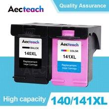 Aecteach Compatible 140 141 XL Ink Cartridge Replacement For HP 140 141 Photosmart C4283 C4583 C4483