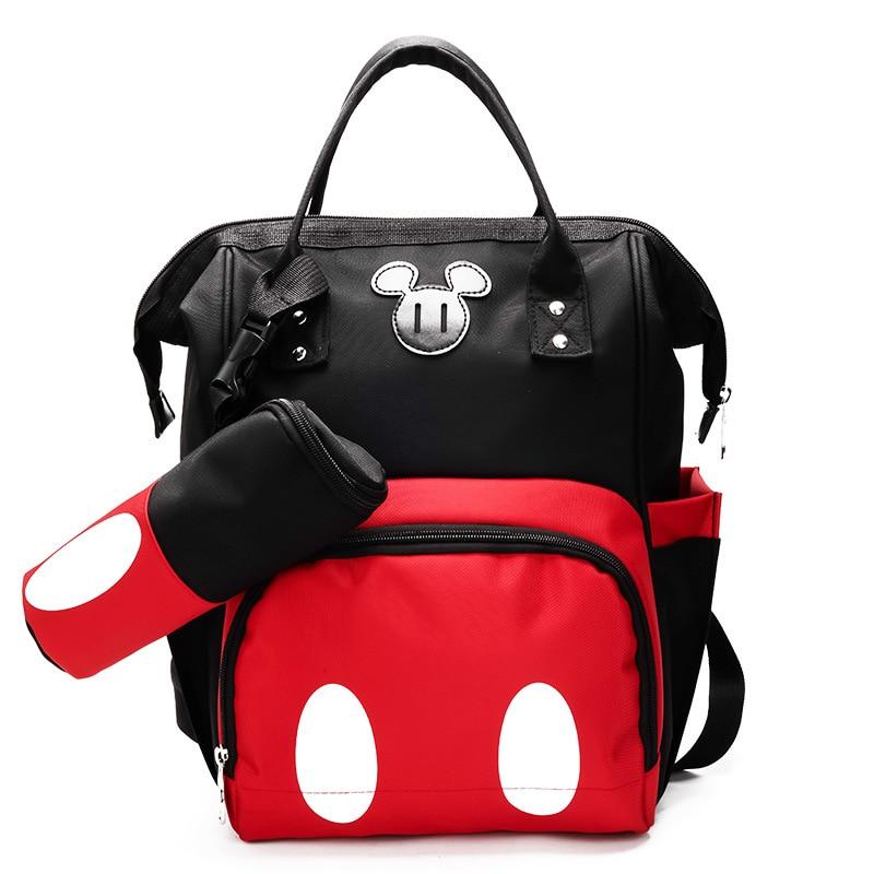 comprar online 201d1 d9d3b € 30.31 21% de DESCUENTO|2018 bolsas clásicas de pañales mochilas Mickey  mamá maternidad Minnie pañal bolsa cuidado de bebé gran capacidad bolsa de  ...