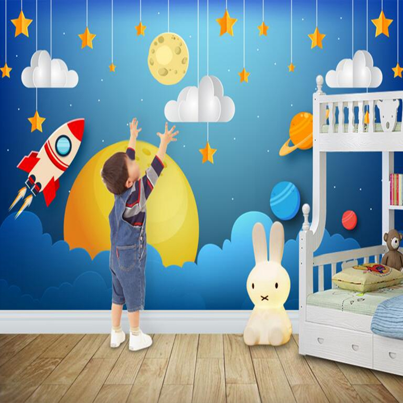 Baby Wallpapers Custom Mural Wallpaper Fantasy Space Astronaut Mural Contact Cartoon Background Living Room Desktop Wallpaper