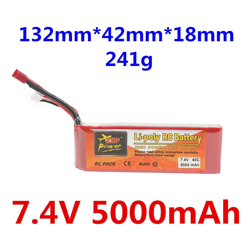 ZOP Power 7,4 В 2S 5000 мАч 40C Lipo аккумулятор XT60 или Т-образный Разъем Детали для пульта дистанционного управления и аксессуары высококачественные ак...