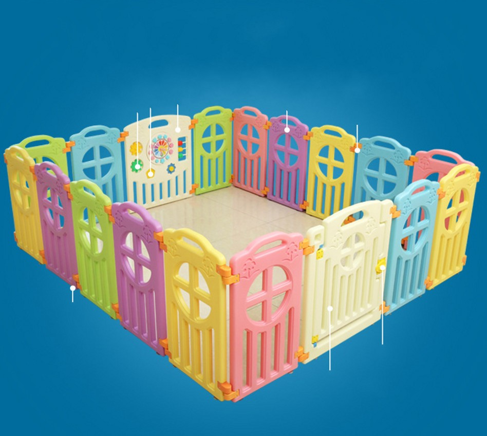Baby Playpens Baby Kids Safe Indoor Game Play Fence Activity Gear Environmental Protection EP Play Yard