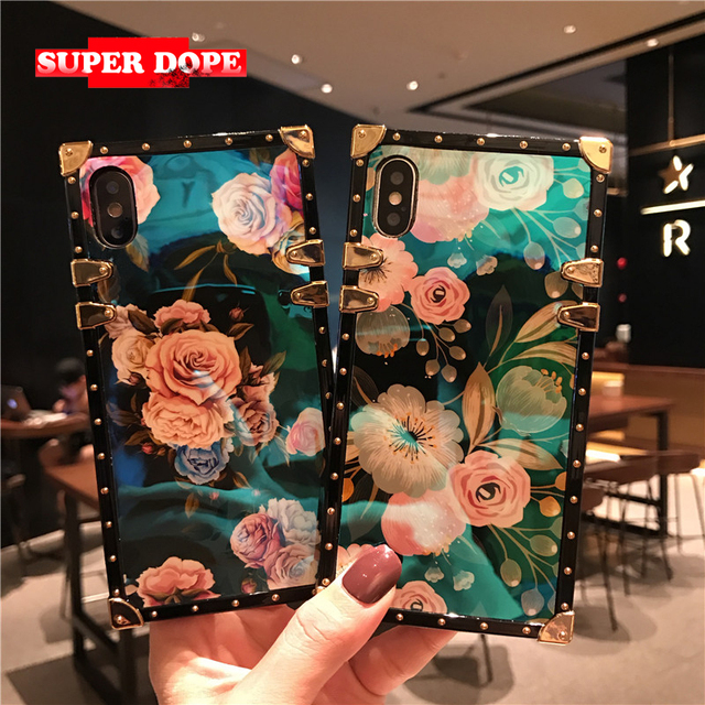 brand new 5df5c ce859 US $4.99 |flowers eye trunk phone girly cover For iPhone 6s 6 7 8 Plus XR X  XS xsmax fundas luxury for Huawei mate 20 P20 PRO NOVA 3 lite-in Fitted ...