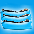 Outdoor lazy sofa sleeping bag portable folding rapid air inflatable sofa bed sand blow-up lilo inflatable sofa 185*50 blue