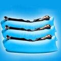 Sofá perezoso de saco de dormir al aire libre portátil plegable rápida de aire sofá cama inflable sofá inflable lilo blow-up de arena 185*50 azul