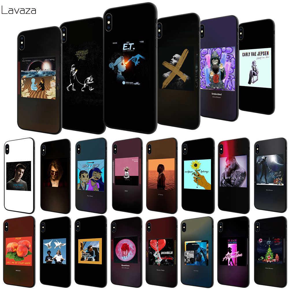 Lavaza Rap hip hop zanger chris Brown art Soft Case voor Apple iPhone 6 6 S 7 8 Plus 5 5 S SE X XS MAX XR TPU Cover