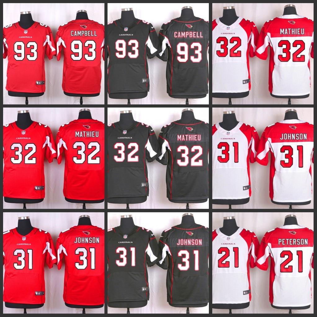 huge discount 6ec9c c8f95 Men's Arizona Cardinals David Johnson #31 Black Elite NFL Jersey
