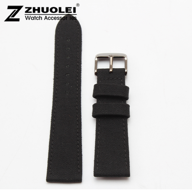 Nylon Canvas Durable Sport Padded Watch Strap comfortable Leather Lining 18mm 20mm 22mm 24mm black watchband with steel buckle red led car switch panel switches waterproof yacht cockpit control switch marine rocker switch panel rv boat refit accessories
